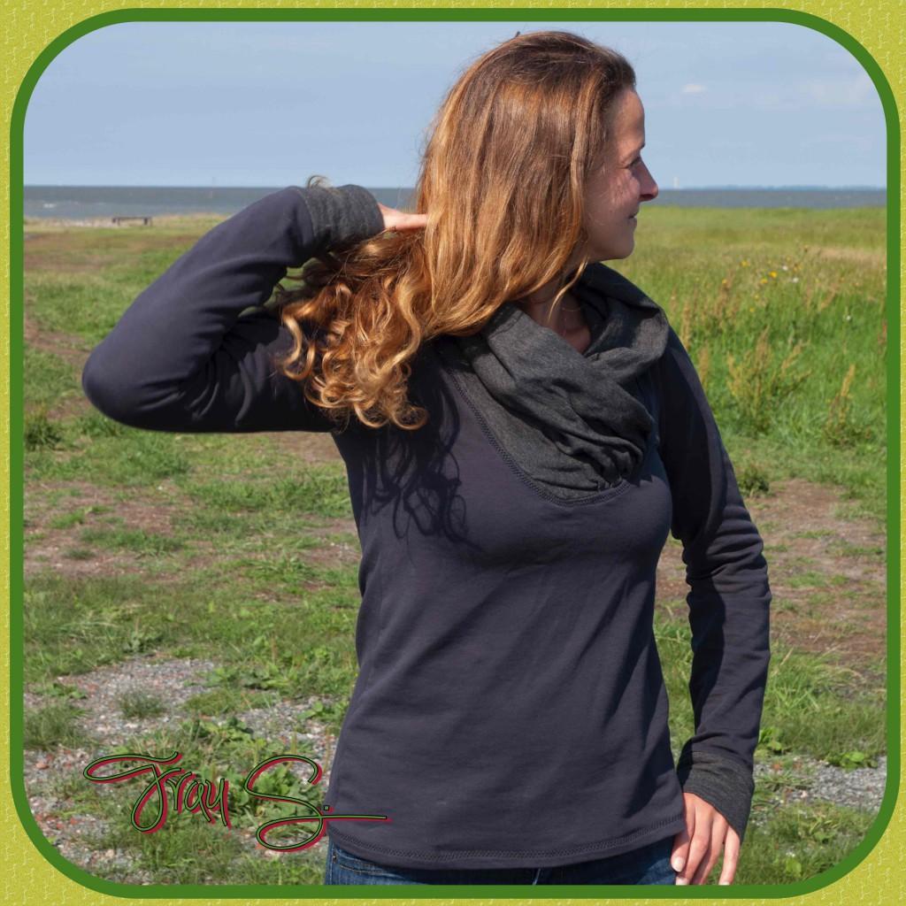 BeeWave Beekiddi Pullover mit großem weiten Kragen