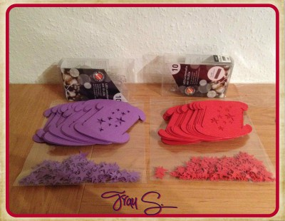 Puzzlelampe lila und rot Einzelteile
