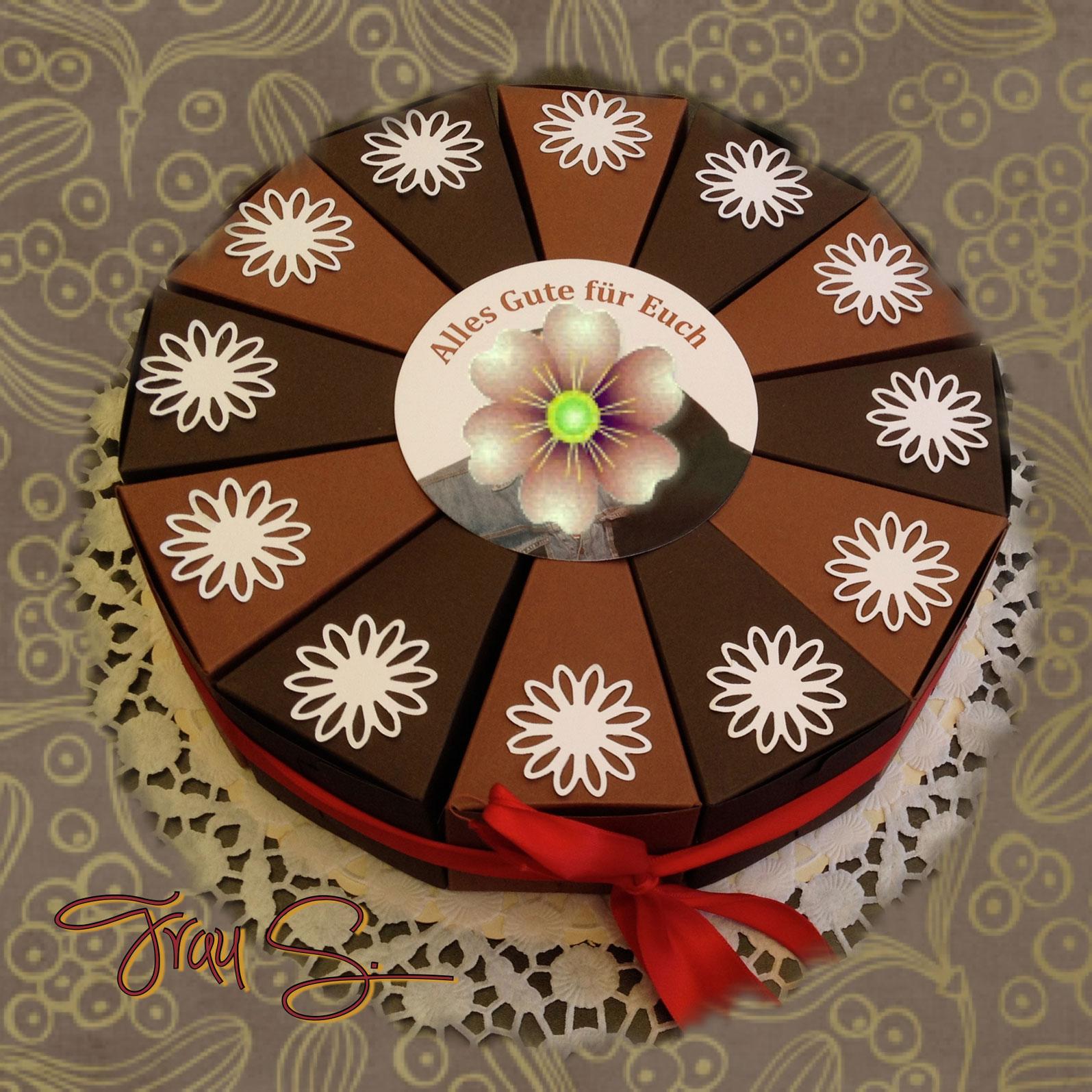 Schokoladentorte aus papier made by frau s - Erste gemeinsame wohnung geschenk ...
