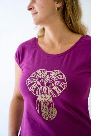 schnelles Shirt von AnniNanni mit Elefant Mandala Plot