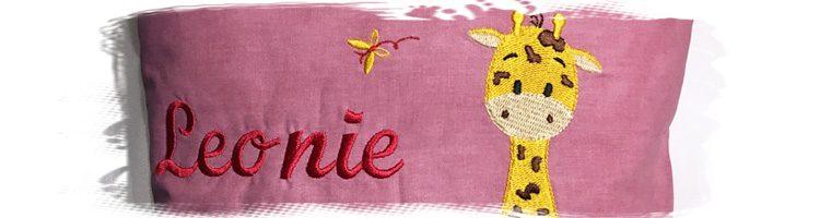 Kuschelkissen mit Giraffe und Namen