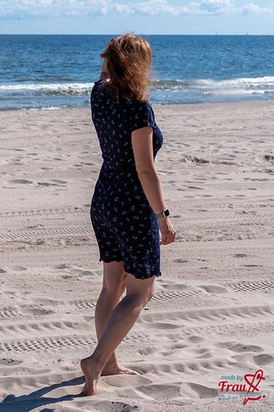 Raglan-Sommerkleid mit Ankern in navy
