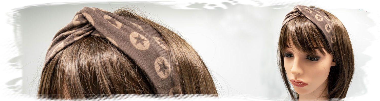 Braunes Haarband mit Sternen